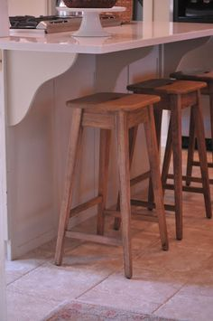 Our Home   New Kitchen Counter Stools Kitchen Counter Stools, Kitchen Island, Kitchen Window Sill, Burlap Runners, Designer Bar Stools, Dining Room Table, New Kitchen, Home Kitchens, New Homes