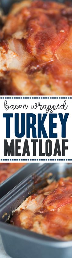 Easy Bacon Wrapped Turkey Meatloaf made like muffins in mini pans – extremely moist perfect personal sized portions to be healthy #SundaySupper