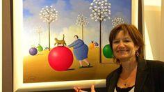 Nicole Avezard n'est pas seulement une artiste comique, elle est aussi peintre.