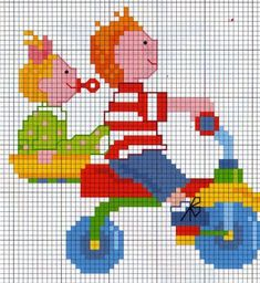 Atelier da Kátia: Bonequinhos Small Cross Stitch, Cross Stitch Baby, Cross Stitch Charts, Cross Stitch Designs, Knitted Jackets Women, Stitch Toy, Charts And Graphs, Bargello, Diy Projects To Try