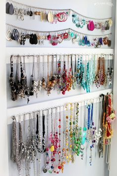 14 Easy Tips On How To Organize Your Jewelry Necklace hanger
