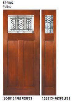Therma tru fiber classic mahogany door maple park glass for Therma tru maple park