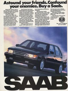 Saab 9000 - Vintage Car Ads