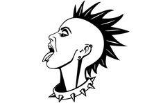 Punk Girl Vector Illustration – Punks Not Dead – rock Punk Art, Arte Punk, Goth Art, Filles Punk Rock, Desenho Tattoo, Zine, Vector Art, Draw Vector, Art Inspo