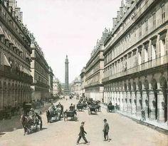 Then: Rue de la Paix and its famous obelisk. | Then Vs. Now: Paris In The Early 1900s