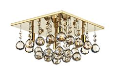 DAR Abacus Antique Gold 4 Lamp Square Flush Ceiling Light DAR Lighting is part of the Flush Lighting range. Crystal Ceiling Light, Semi Flush Ceiling Lights, Ceiling Spotlights, Flush Lighting, Dar Lighting, Modern Lighting, Ceiling Lighting, Modern Chandelier, Chandeliers
