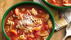 Savor slow-cooked Italian soup with little effort by letting your slow cooker do all the work!  This is one hearty soup recipe the whole family will love.
