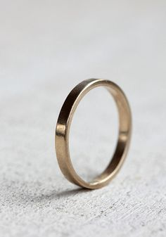 Gold wedding ring 14k gold woman's wedding band by Praxis Jewelry
