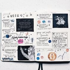 week spread jullet journal ideas