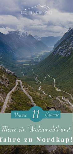 Wohnmobil mieten: 11 unschlagbare Gründe, warum eine Fahrt mit dem Wohnmobil die beste Möglichkeit ist, durch Norwegen zu reisen Norway Roadtrip, Reisen In Europa, Lofoten, Old Barns, Vacation Trips, Road Trip, Explore, Mountains, Nature