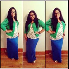 what to wear with a green maxi skirt - Google Search