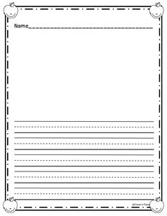 Kindergarten Writing Paper!   Research paper, Writing journals and ...