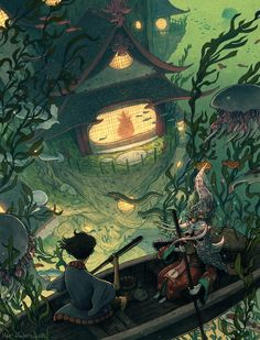 We want someone to turn this fairytale concept art into a movie now Der Künstler Matt Rockefeller kreiert farbenfrohe Fantasy-Kunst mit der perfekten Mischung aus [. Art Inspo, Kunst Inspo, Inspiration Art, Art And Illustration, Illustrations Posters, Character Illustration, Art Anime, Anime Kunst, Fantasy Kunst