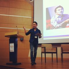 Kei Shibata CEO of Venture Republic takes the stage, despite having had late drinks (which he paid for) with Tudor Coman of #Flocations #WITnext #traveljobcamp #Webintravel #travel #SMU #Singapore #university - @webintravel- #webstagram