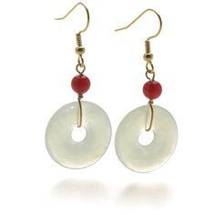 Jade Bi-Disc Earrings