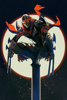 Zed, Akumey 033 - League of Legends Lol League Of Legends, League Of Legends Characters, Zed Wallpaper, Wallpaper Memes, Armadura Ninja, Desenhos League Of Legends, Art Ninja, Samurai Artwork, Fantasy Armor