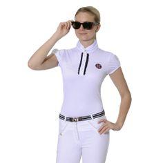 Fashion Forward Riding Shirts for 2014   Velvet Rider ...This one is the Spooks Camilla Elegance! #vrhorseshowweek