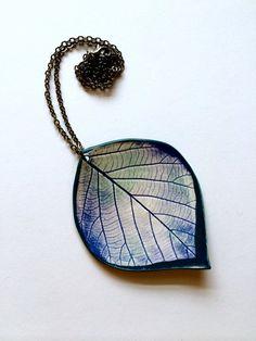 XL Blue Teal Jade Ceramic Leaf Pendant by AlainaSheenDesigns, $28.00 #Jewelry #Northwest
