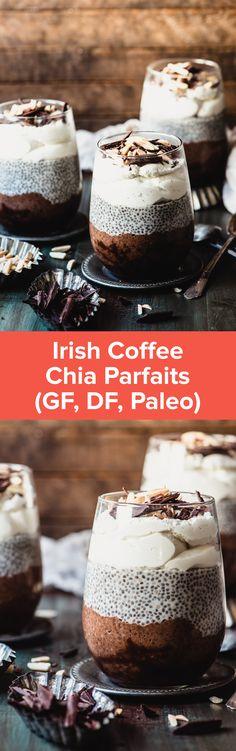 Irish Coffee Chia Parfait | StupidEasyPaleo.com
