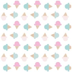 Cute Ice Cream Cone Print, Digital Wallpaper or Website Background