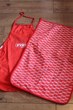Pyrex Apron and Tea Towel.  c1970's Hard to Find Kitchen Collectable. Kitchen Linens. by AtticBazaar on Etsy