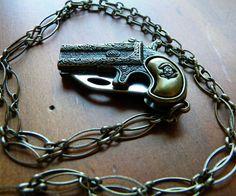Pistol Pocket Knife Necklace
