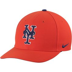 24f6f59f989 Men s New York Mets Nike Orange Classic Adjustable Performance Hat