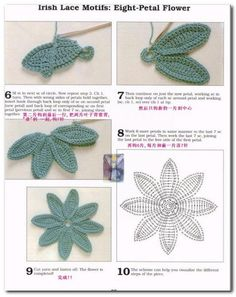 ISSUU - Crochet flores by Lyubasha Rudina