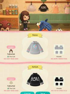 made some NASA shirts 👀 Nintendo Switch Animal Crossing, Animal Crossing Pocket Camp, Animal Crossing Memes, Animal Crossing Qr Codes Clothes, Ac New Leaf, Motifs Animal, Custom Design Shirts, Pokemon, Animal Games