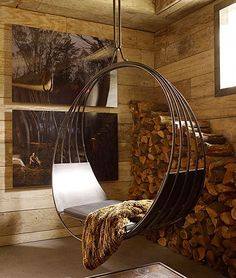 erin martin iron swinging chair