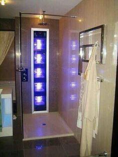 Tanning bed as you shower; multitasking at its finest!