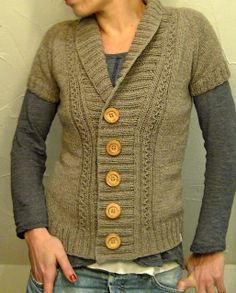 Light and Calm (a version of Dark and Stormy). This pattern is 6.50, and modified to be longer than the Dark and Stormy. VERY easy modify though. Just knit it as long as you want! Bottom of hip would be the longest I'd go though, as its a rather narrow sort of jacket.