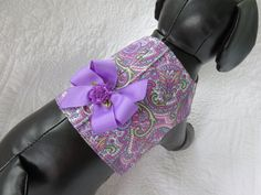 Purple Paisley Vest  Custom  Made for dog or by graciespawprints