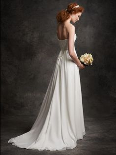 Ella Rosa 2016 Wedding Dresses for Beach Strapless Neck Ruched Chiffon A Line Elegant Bridal Gowns with Lace Up And Bow Sweep Train from Nicedressonline,$148.64 | DHgate.com