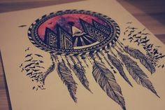 Hipster dream catcher. Love the drawing...