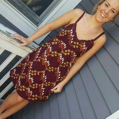 Calvin Klein summer dress Burgundy colored summer dress.  Very light weight cotton :) Calvin Klein Dresses Midi