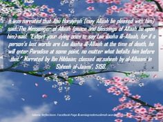 Exhorting the dying person to say Laa ilaahaill-Allaah