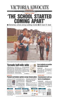 Here is the front page of the Victoria Advocate for Tuesday, May 21, 2013. To subscribe to the award-winning Victoria Advocate, please call 361-574-1200 locally or toll-free at 1-800-365-5779. Or you can pick up a copy at one of the numerous locations around the Crossroads region.