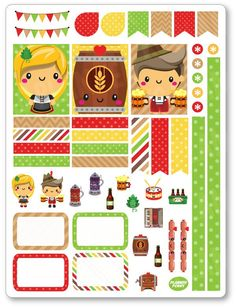 New product: Oktoberfest Decor...! Get it here: http://www.plannerpenny.com/products/oktoberfest-decorating-kit-weekly-spread-planner-stickers?utm_campaign=social_autopilot&utm_source=pin&utm_medium=pin