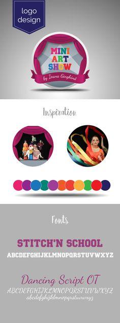 Logo design for art and acting classes for children Acting Class, Creative Design, Logo Design, Logos, Children, Mini, Inspiration, Art, Young Children