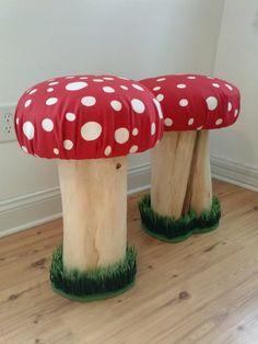 Handmade Toadstool, Pixie Fairy Mushroom Stool   Mushroom Seat Mushroom Stool Toad Stool Kawaii Handmade Furniture Adult Size Eco Friendly by PixieBrook on Etsy https://www.etsy.com/listing/179769536/handmade-toadstool-pixie-fairy-mushroom