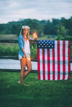 of July Inspired Engagement Photo Shoot + DIY Cherry Cobbler Bake from CJK Visuals 4th Of July Photography, Senior Photography, Photography Ideas, American Flag Photography, Creative Photography, Fashion Photography, Girl Senior Pictures, Senior Photos, Senior Portraits