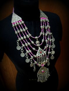 Large Banjara Necklace with Kuchi Pendants and by DancingTribe