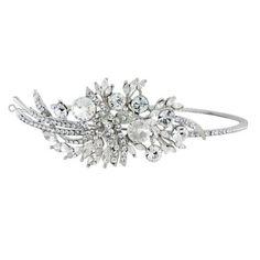 Exquisite Starlet Side Tiara - Wedding Tiaras - Glitzy Secrets