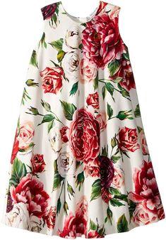 Dolce & Gabbana Knit Peonie Print Dress (Toddler/Little Kids) Stylish Dresses For Girls, Dresses Kids Girl, Toddler Girl Outfits, Toddler Dress, Toddler Fashion, Kids Outfits, Kids Fashion, Baby Dresses, Dress Girl