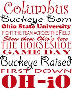 Ohio State Buckeyes Subway Print 8 x 10 by framedletterart on Etsy, $15.00