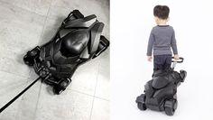 Batmobile Kid Travel Case Warner Bros. Batman Rolling Carry On Luggage Approved #Ridaz