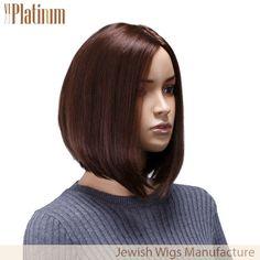 Bob style dark brown russian hair jewish wig. It looks very beautiful! If you like it, please email to us: reizi@qdbestwigs.com