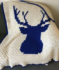 """Be a Deer"" Corner to Corner Afghan – A Wrinkle and a Stitch C2c Crochet Blanket, Crochet Beanie Pattern, Crochet Afgans, Afghan Crochet Patterns, Crochet Blankets, Crochet Deer, Crochet Cable, Crochet For Boys, Free Crochet"