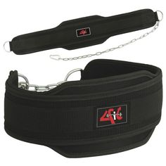 4Fit Weight Lifting Belt, Neoprene Belt Exercise Belt Heavy Chain